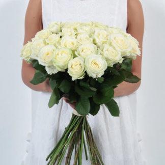 Букет белых роз Доломити 35 шт Воронеж