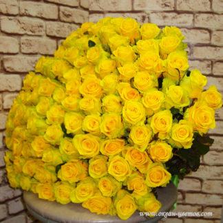 Букет желтых роз 101 шт Воронеж