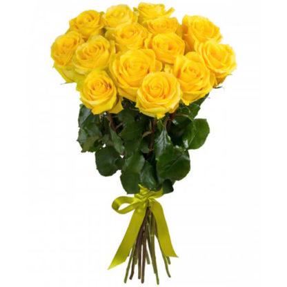 Букет желтых роз 15 шт Воронеж