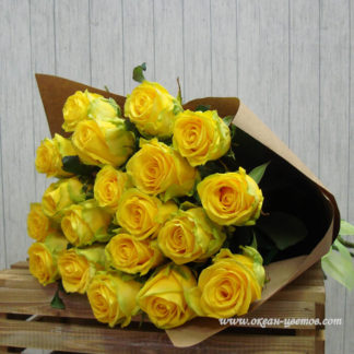 Букет желтых роз 25 шт Воронеж
