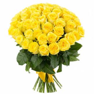 Букет желтых роз 35 шт Воронеж