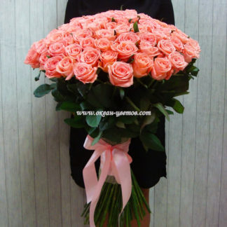 Розовая роза Россия 101 шт Воронеж