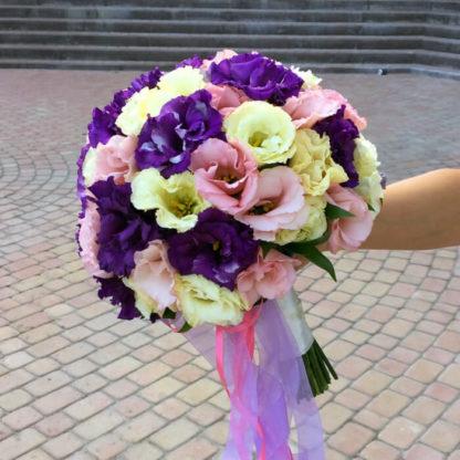 Букет невесты из эустомы Воронеж 3