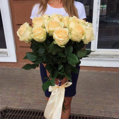 Букет кремовых роз Эквадор 51 шт Воронеж