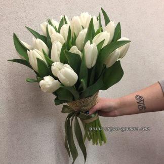 Букет белых тюльпанов 25 шт Воронеж