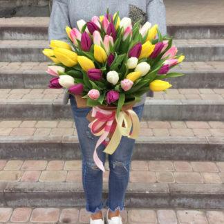 Букет 55 тюльпанов Воронеж