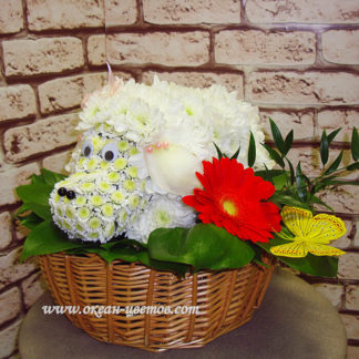 Овечка из цветов Воронеж